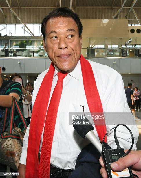 Japanese wrestlerturnedlawmaker Antonio Inoki is ready to leave Beijing's international airport on Sept 7 for Pyongyang for talks with top officials...