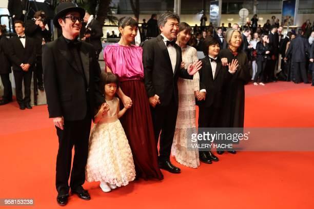 Japanese writer and actor Lily Franky Japanese actress Miyu Sasaki Japanese actress Sakura Ando Japanese director Hirokazu KoreEda Japanese actress...