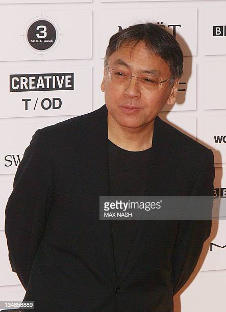 Japanese writer Kazuo Ishiguro arrives for the Moet Independent British Film Awards in the City of London Decemebr 4 2011 Max Nash/AFP Photo