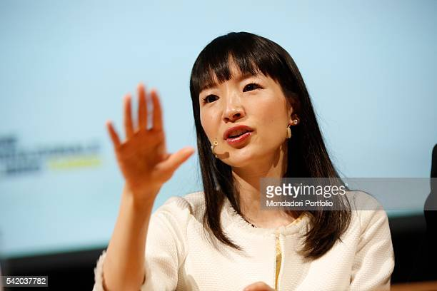 Japanese writer Marie Kondo during her speech at the XXIX International Book Fair in Turin Lingotto Fiere May 14 2016
