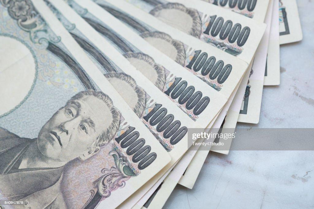 10000 Japanese Yen notes : ストックフォト