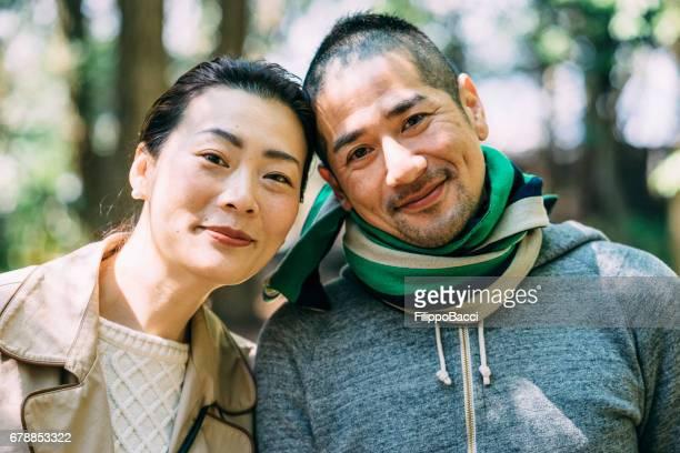Japanese young adult couple portrait