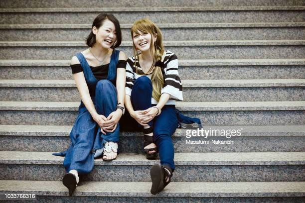 Japanese young female couple