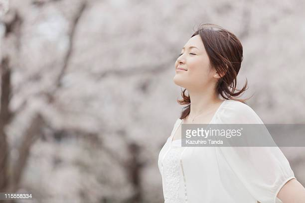 japanese young woman smiling