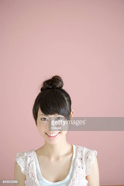 Japanese young woman smiling, portrait