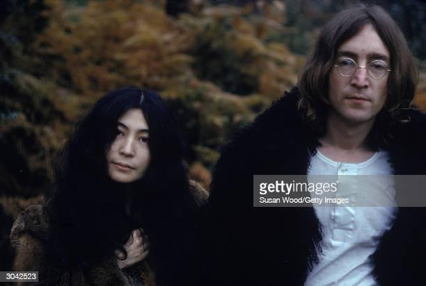 Japaneseborn artist and musician Yoko Ono and British musican and artist John Lennon December 1968