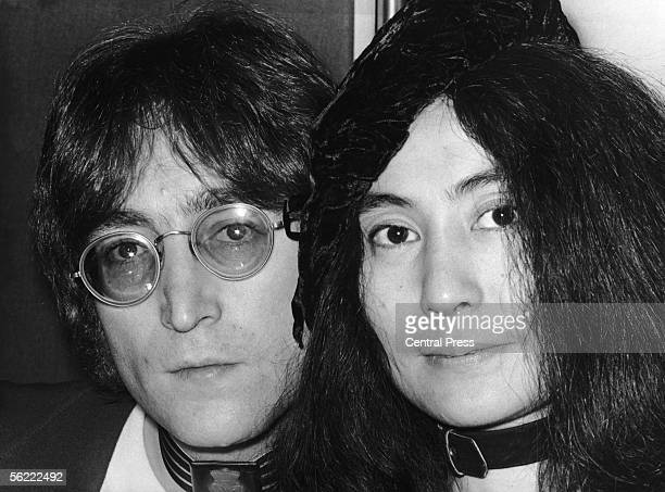 Japaneseborn artist Yoko Ono and her husband singer and songwriter John Lennon at Selfridges department store in London to autograph copies of Ono's...
