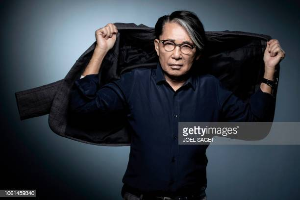 JapaneseFrench fashion designer Kenzo Takada poses during a photo session in Paris on November 14 2018