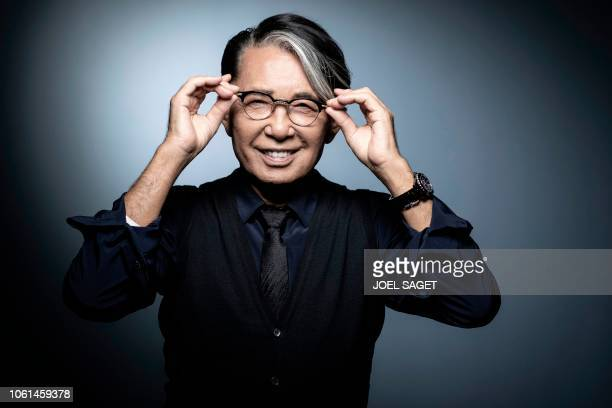 JapaneseFrench fashion designer Kenzo Takada poses during a photo session in Paris on November 14 2018