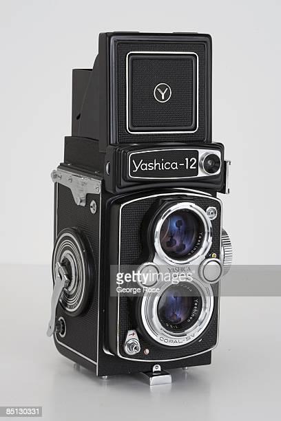 Japanesemade Yashica 12 twin lens reflex 120mm film camera is seen in this 2009 Healdsburg California studio photo