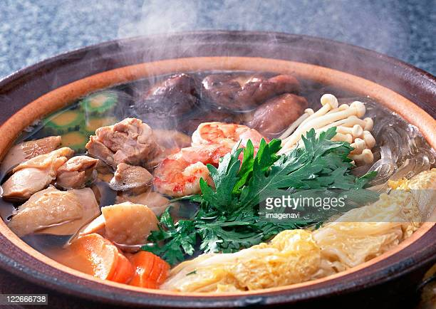 Japanese-style Stew Cooked at the Table