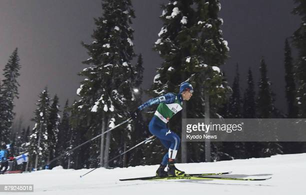 Japan's Akito Watabe competes in the men's individual 10-kilometer cross country race at the Nordic combined World Cup in Ruka, Finland, on Nov. 25,...