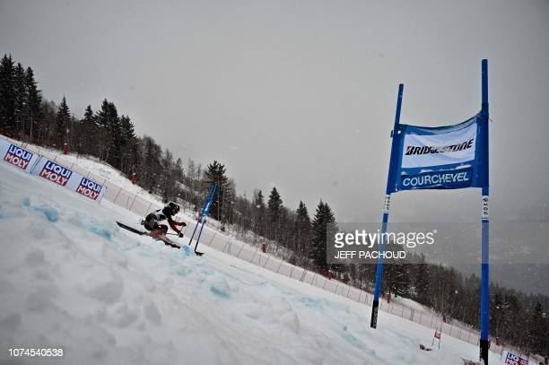 Japan's Ando Asa competes in the FIS Alpine World Cup Women Giant Slalom on December 21 2018 in Courchevel French Alps