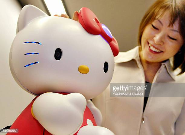 Japan's computer giant NEC and robotic venture Business Design Laboratory unveils in Tokyo 12 July 2004 the prototype model of communication robot...