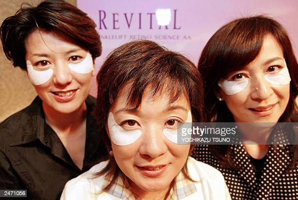 Japan's cosmetics giant Shiseido unveils the world's first antiaging sheeted mask Revital Wrinklelt which contains liquided pure retinol to remove...
