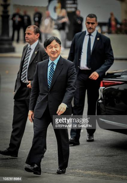 Japan's Crown Prince Naruhito arrives to visit the exhibition of 18th century Japanese painter Ito Jakuchu Jakuchu The colorful realm of living...