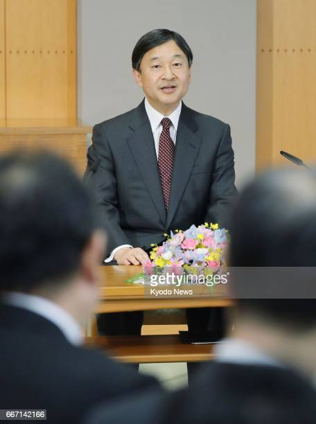 Japan's Crown Prince Naruhito speaks at a news conference at Togu Palace in Tokyo on April 11 ahead of his first visit to Malaysia from April 13 The...