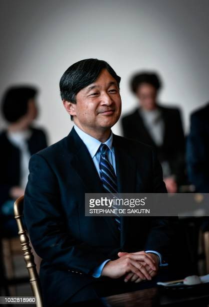 Japan's Crown Prince Naruhito visits the exhibition of 18th century Japanese painter Ito Jakuchu Jakuchu The colorful realm of living beings at the...