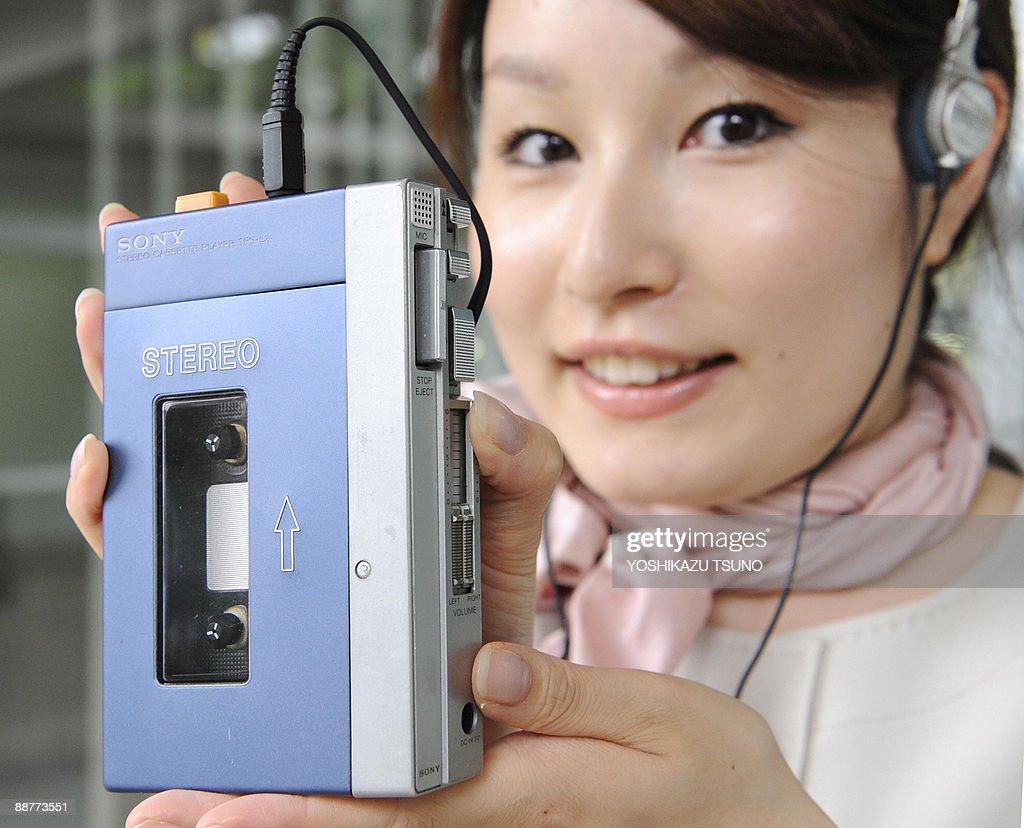 Japan's electronics giant Sony employee : News Photo