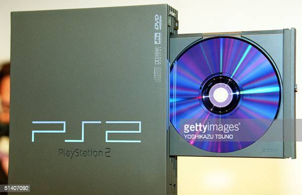 Japan's electronics giant Sony unveils the new video game console PlayStation 2 with 128bit Emotion Engine CPU and to support CDROM/DVDROM disc...