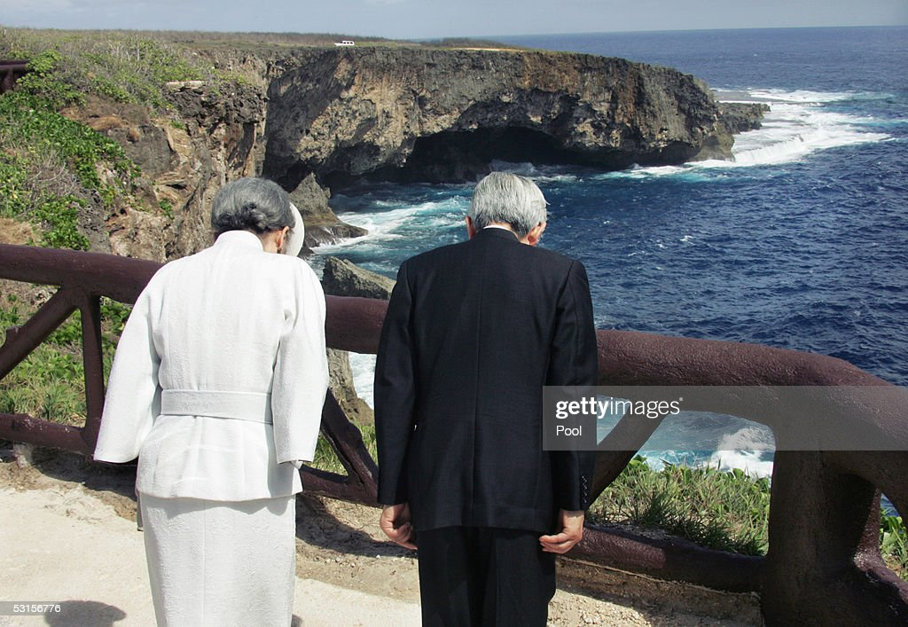 Japanese Emperor Akihito Visits Saipan : News Photo