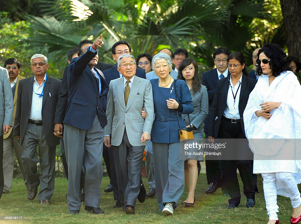 Japanese Emperor And Empress Visit India