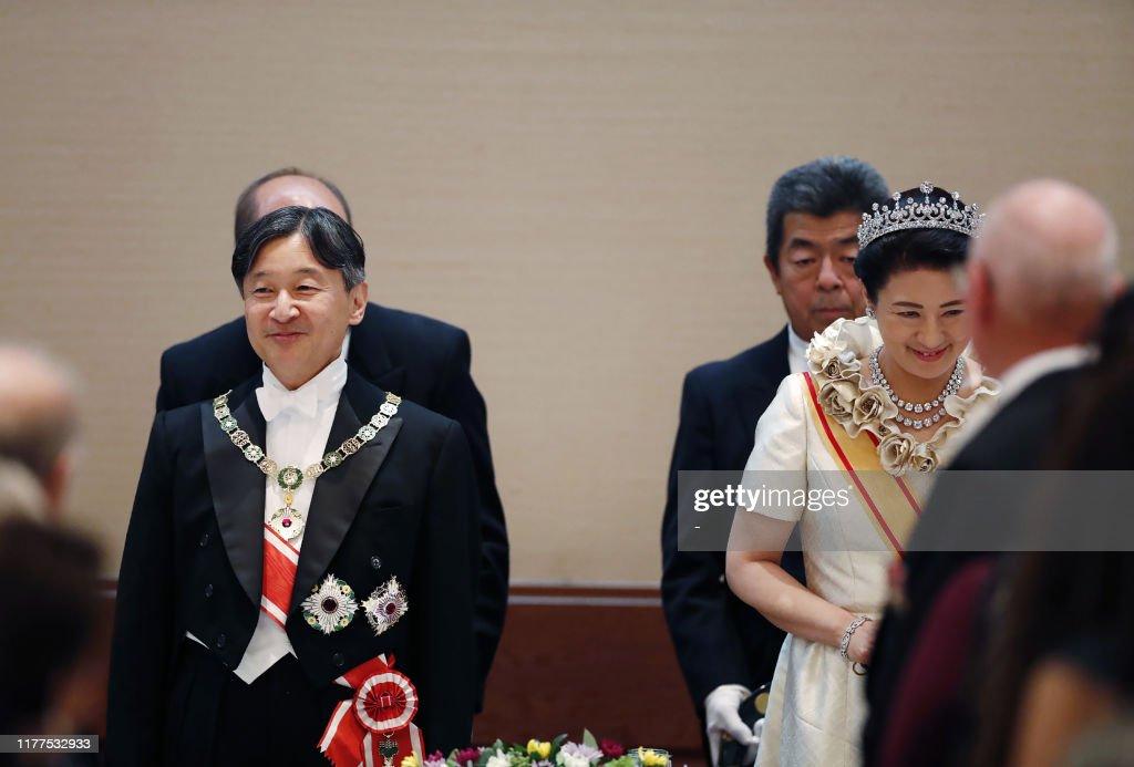 JAPAN-ROYALS-EMPEROR-CEREMONY : ニュース写真