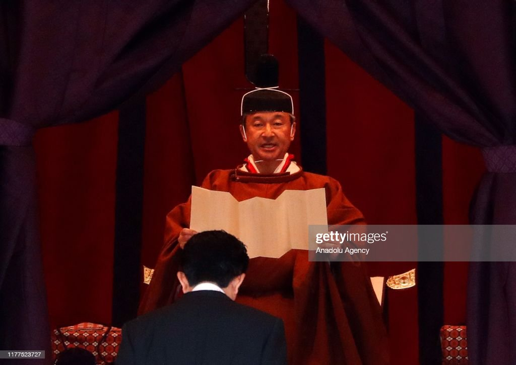 Enthronement Ceremony of Japanese Emperor Naruhito : Foto jornalística
