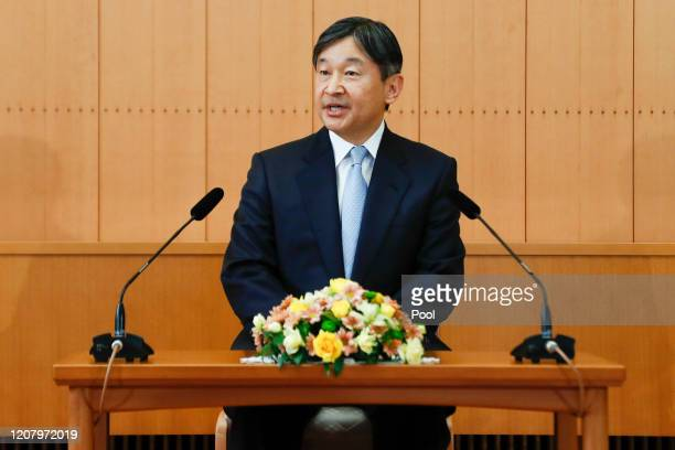 Japan's Emperor Naruhito speaks during a press conference on the occasion of the Emperor's birthday on February 21, 2020 in Tokyo, Japan. Emperor...