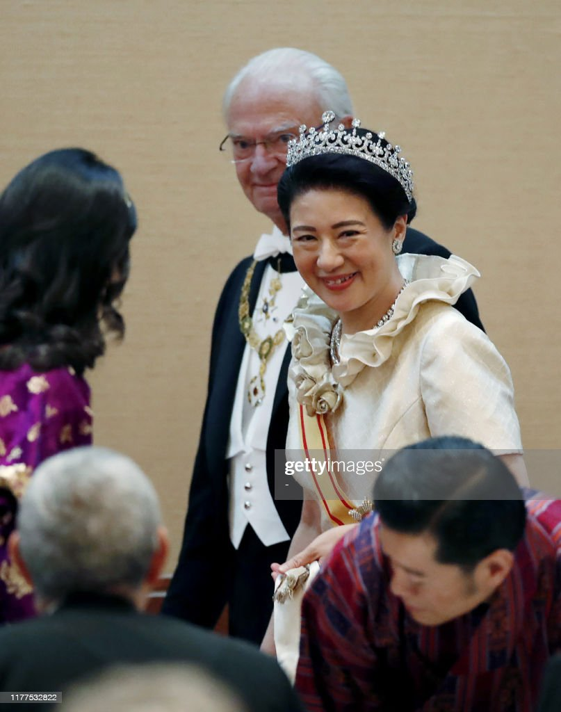 JAPAN-ROYALS-EMPEROR-CEREMONY : ニュース写真