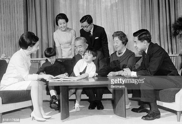Japan's first family is together at the Imperial Palace in this New Year's photo Seated from left are Crown Princess Michiko Prince Hiro Prince Aya...