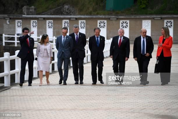 Japan's Foreign Minister Taro Kono Canada's Foreign Minister Chrystia Freeland Germany's Foreign Minister Heiko Maas Britain's political director...