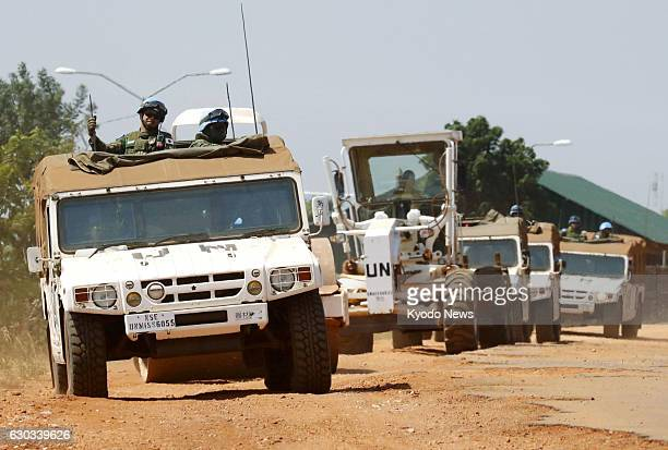 Japan's Ground SelfDefense Force personnel are deployed on Dec 12 in Juba where they take part in UN peacekeeping operations The troops have also...