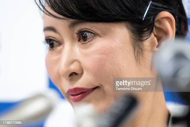Japan's Justice Minister Masako Mori attends a press conference on January 09 2020 in Tokyo Japan Mori met with the media after the press conference...