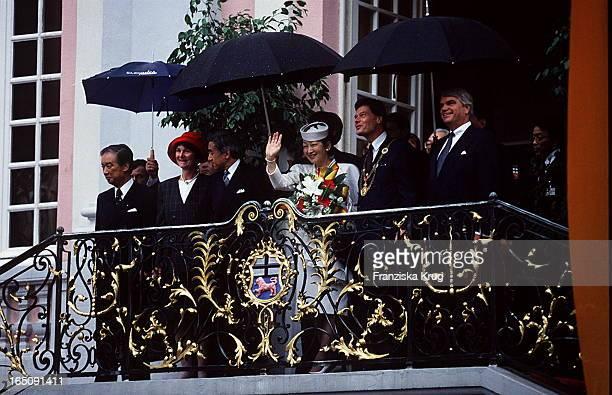 Japans Kaiser Akihito Kaiserin Michiko Besuchen Deutschland Bonn