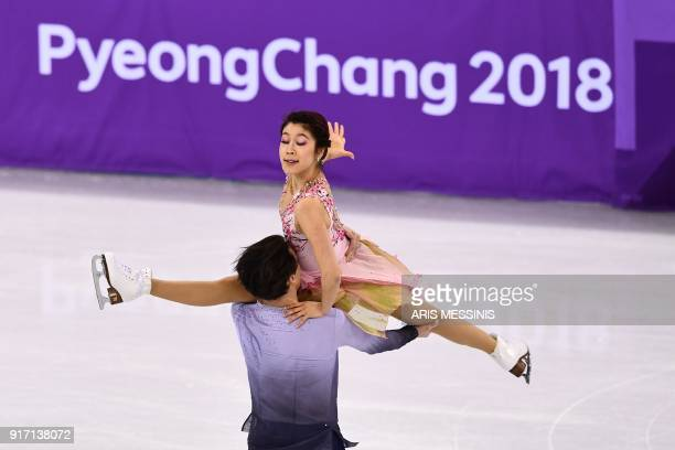 Japan's Kana Muramoto and Japan's Chris Reed compete in the figure skating team event ice dance free dance during the Pyeongchang 2018 Winter Olympic...