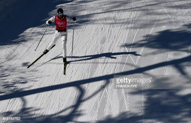 Japan's Keishin Yoshida takes part in a cross country practice session ahead of the Pyeongchang 2018 Winter Olympic Games in Pyeongchang on February...