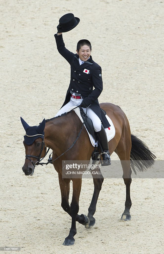 Japan's Kenki Sato on Chippieh salutes t : News Photo