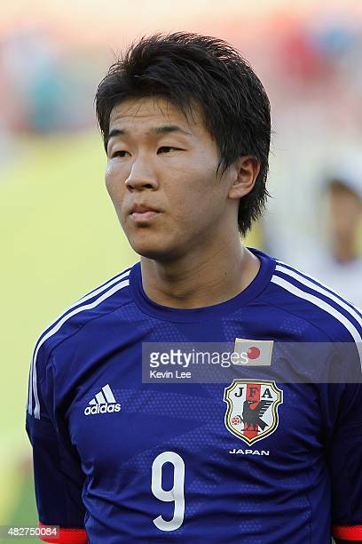 Japan's Kensuke Nagai poses for a picture before the match against DPR Korea during EAFF East Asian Cup 2015 final round on August 2 2015 in Wuhan...