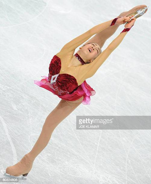 Japan's Mao Asada performs her free program at the Scandinavium arena in Gothenburg on March 20 during the World Figure Skating Championships Japan's...