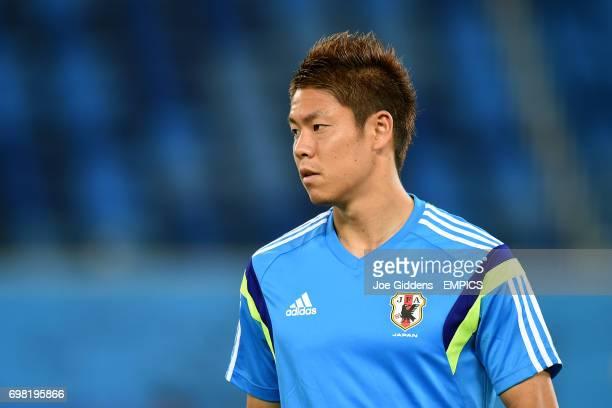 Japan's Masahiko Inoha during a training session at Arena das Dunas in Natal