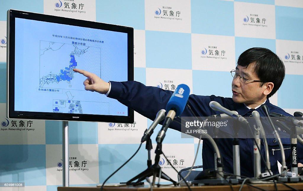 TOPSHOT-JAPAN-EARTHQUAKE : News Photo
