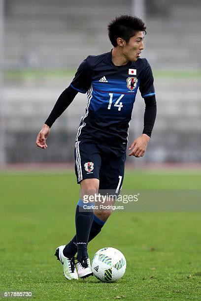 Japan's Midfielder Yuta Toyokawa during the Friendly match between Japan U23 v Sporting Clube de Portugal B at Estadio Municipal de Rio Maior on...