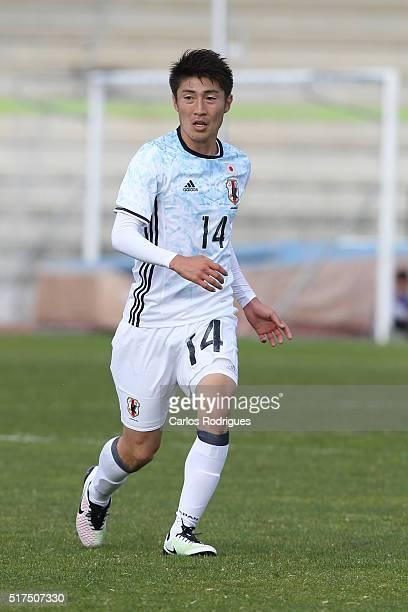 Japan's Midfielder Yuta Toyokawa during the match between Japan v Mexico U23 Friendly International at Estadio Municipal de Rio Maior on March 25...