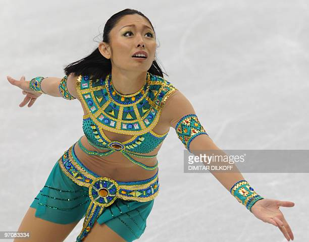 Japan's Miki Ando performs in the Women's Figure Skating free program at the Pacific Coliseum in Vancouver during the XXI Winter Olympics on February...