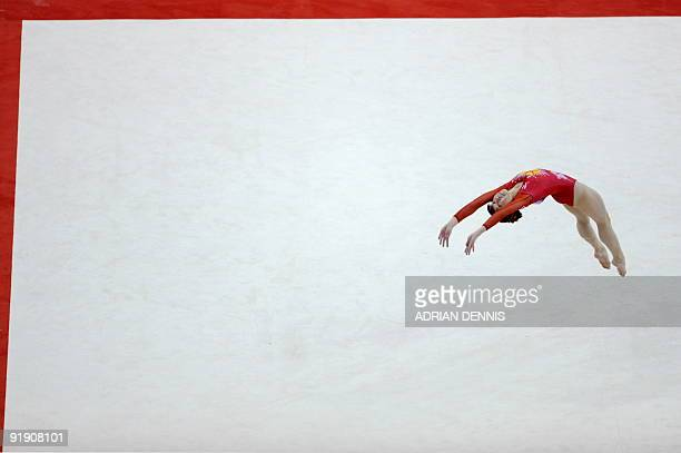 Japan's Miki Uemura performs in the women's floor event during the Artistic Gymnastics World Championships 2009 at the 02 Arena in east London on...