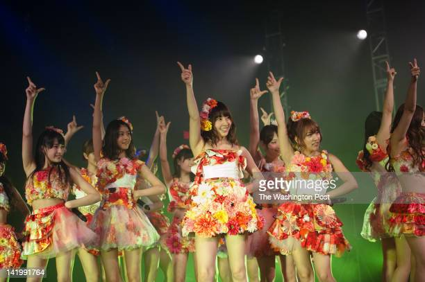 Japan's most popular idol group AKB48 performed at the Lincoln Theater as part of the National Cherry Blossom Festival