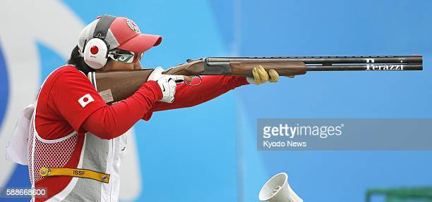 Japan's Naoko Ishihara competes in skeet women's qualification at the Rio de Janeiro Olympics on Aug 12 2016