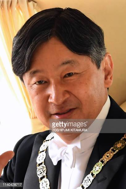 Japans new Emperor Naruhito arrives at the Imperial Palace in Tokyo on May 1 2019 Japan's new Emperor Naruhito formally ascended the Chrysanthemum...