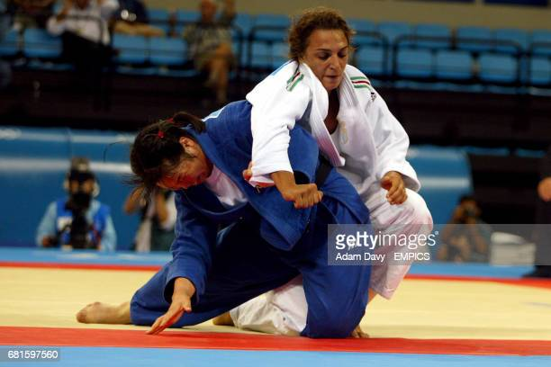 Japan's Noriko Anno in action against Italy's Lucia Morico